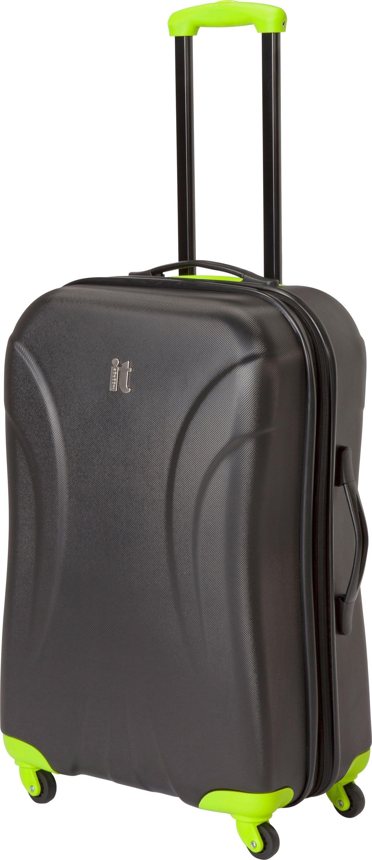27b54e0685a2 IT Luggage Medium Expandable 4 Wheel Hard Suitcase - Black