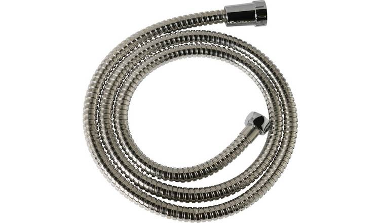 Argos Home Extendable 2m Stainless Steel Shower Hose