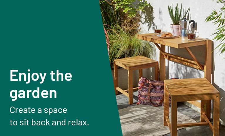 Create a space to sit back and relax in the garden.