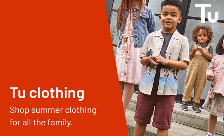 Tu clothing Shop summer clothing for all the family.