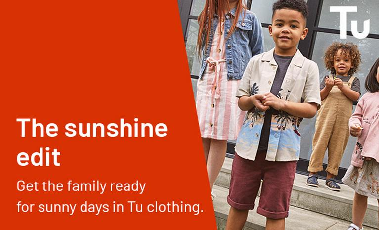 The sunshine edit - get the family ready for sunny days in Tu clothing.