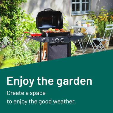 Enjoy the garden and create a space to enjoy the good weather.