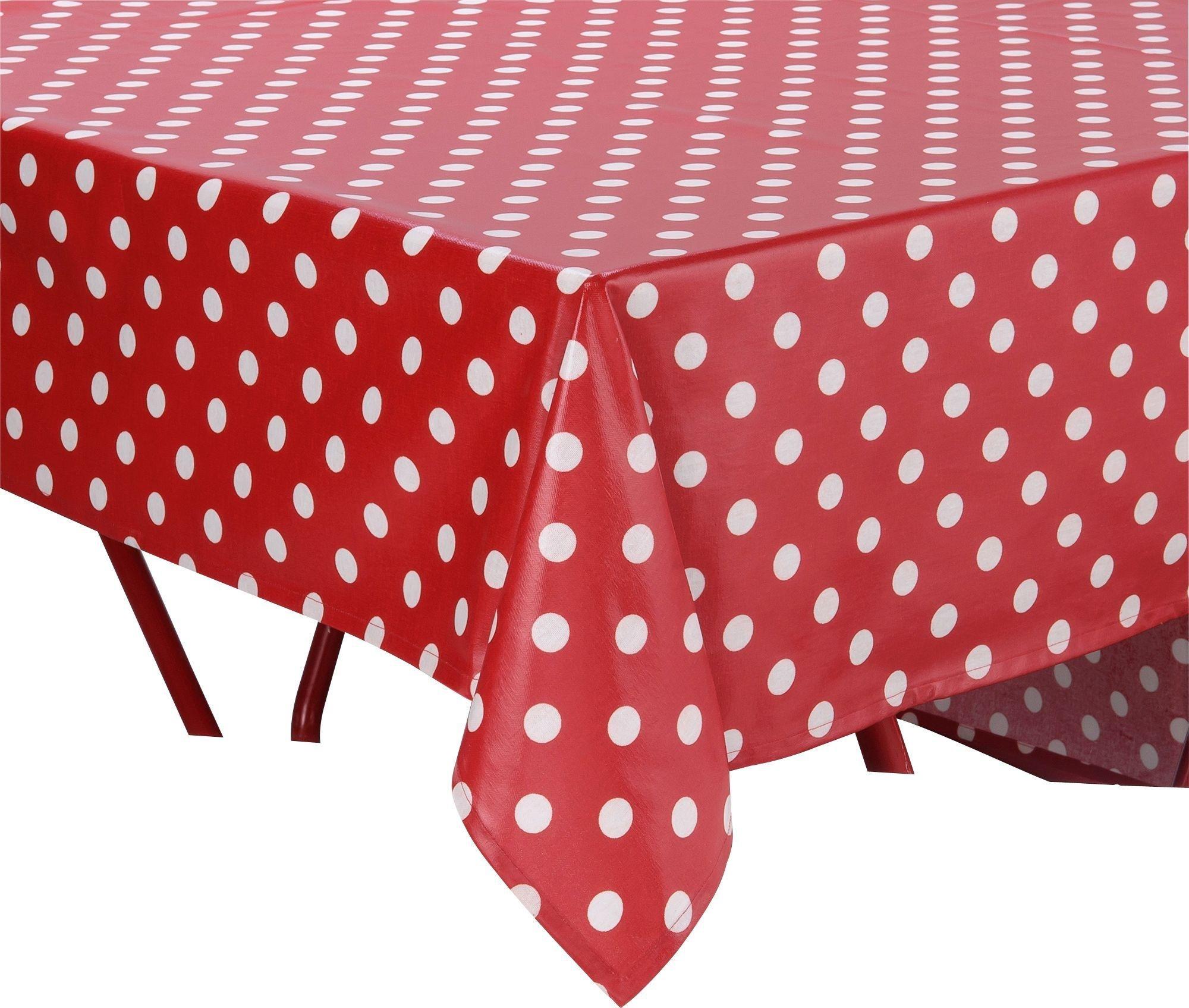 Polka dot tablecloth pink and white polka dot tablecloth for Black polka dot tablecloth