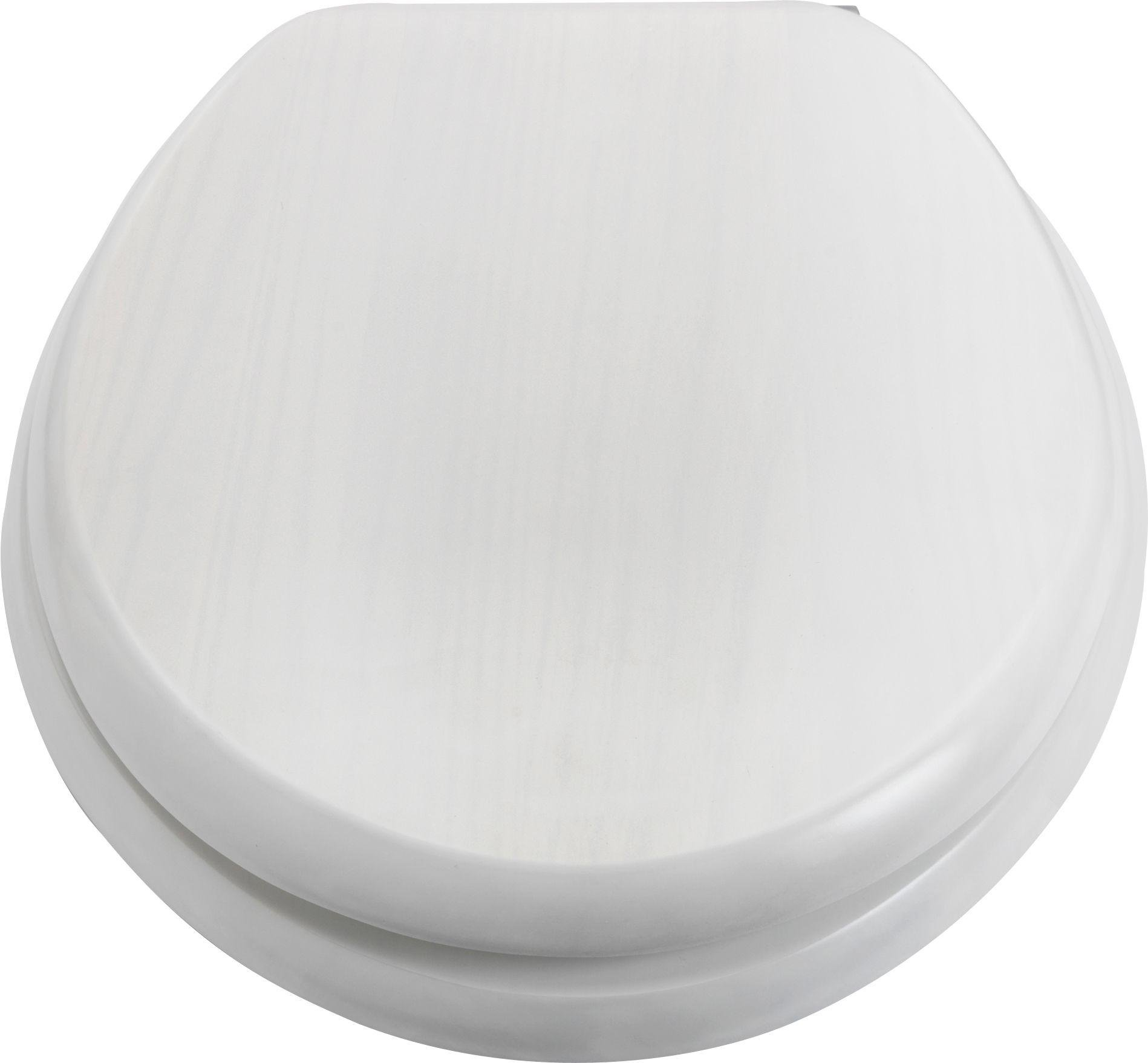Argos Home Solid Wood Slow Close Toilet Seat - White Washed
