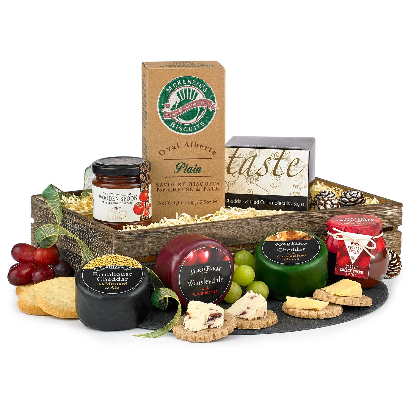Hampers of Distinction Three Cheese Tray