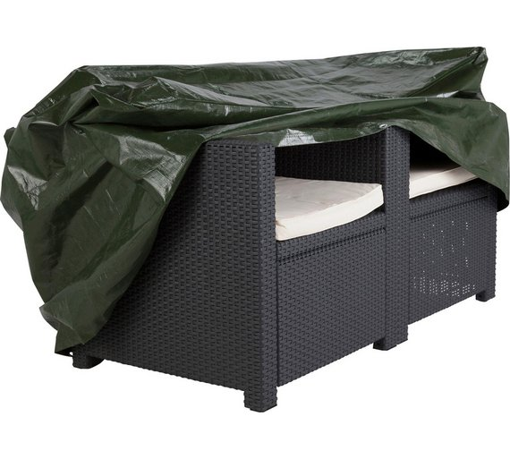 Click to zoom. Buy HOME Standard Rattan Garden Chair Cover   Set of 2 at Argos co