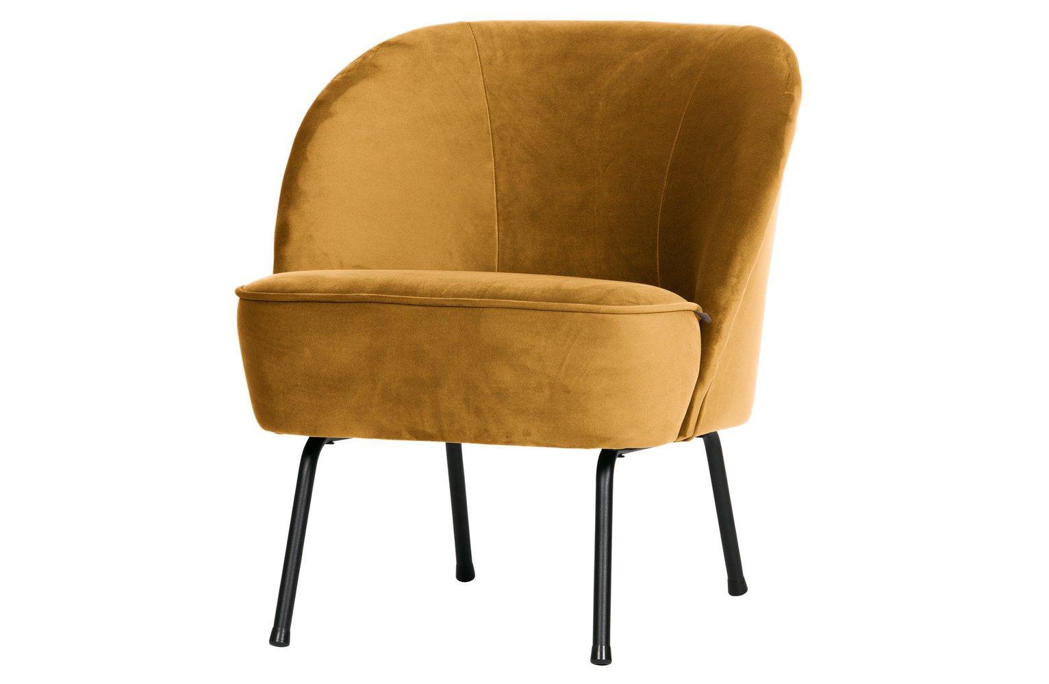 BePureHome Vogue Velvet Armchair - Mustard