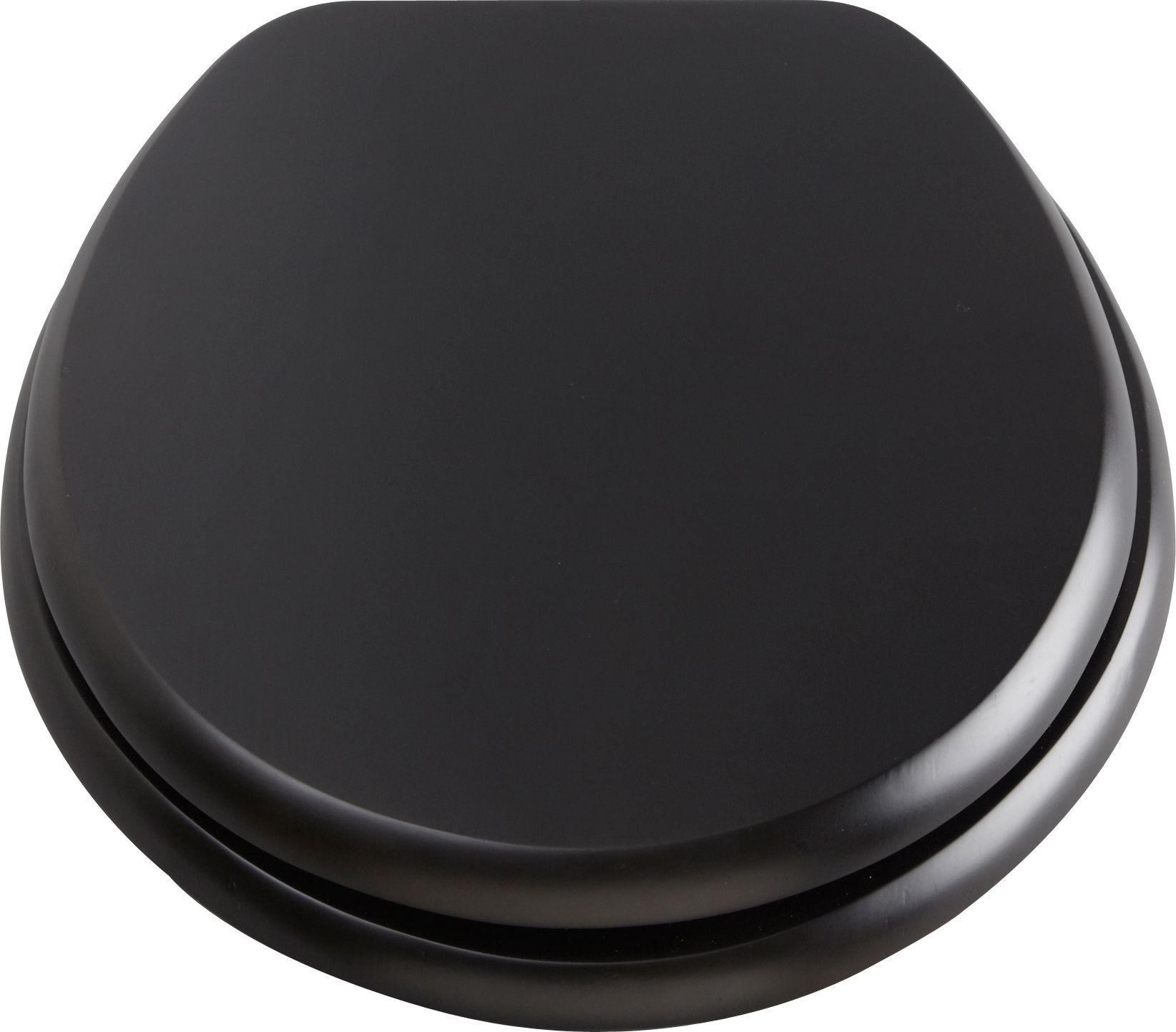 solid wood soft close toilet seat. collection solid wood slow close toilet seat - black soft e