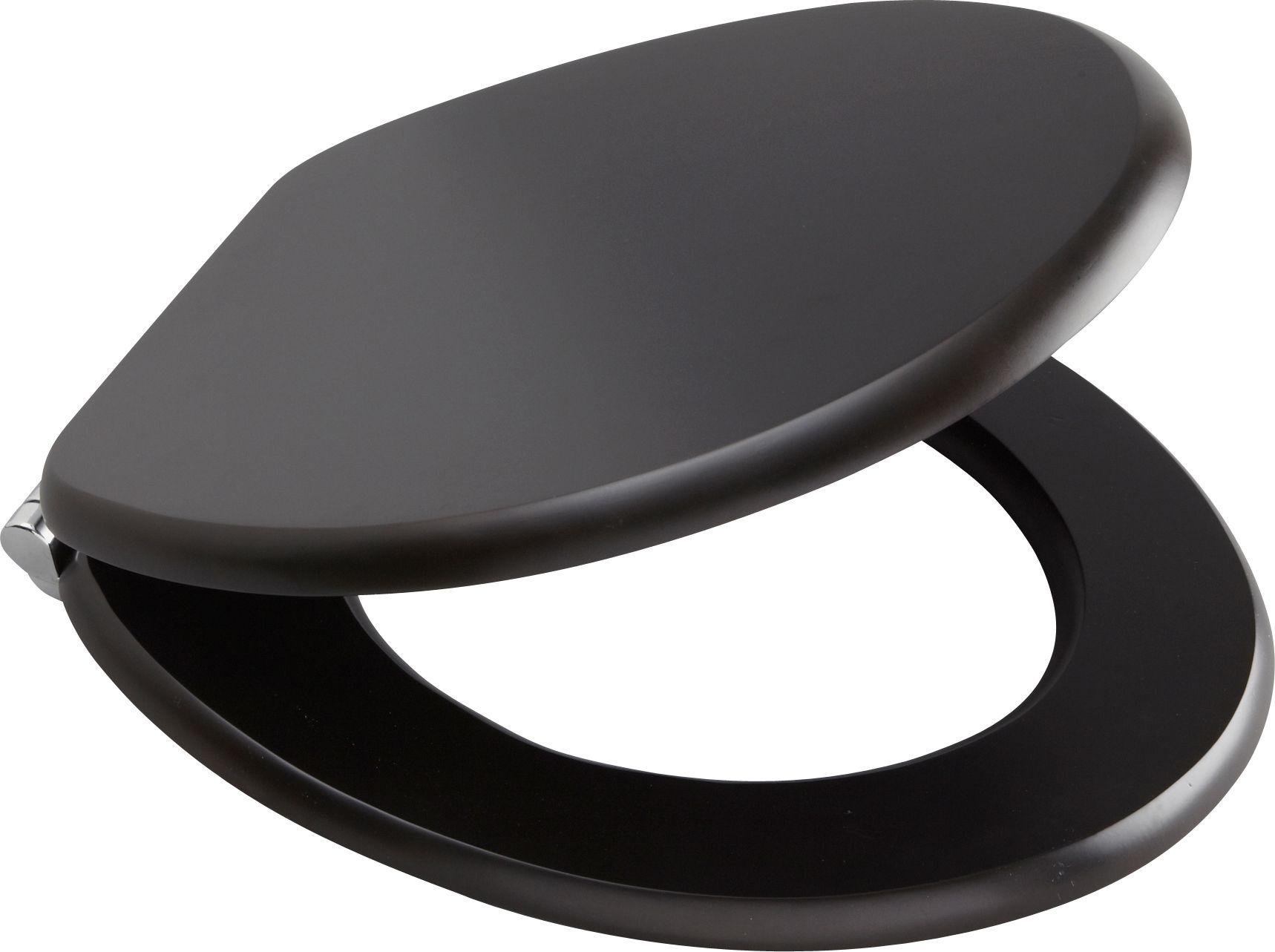 Buy Collection Solid Wood Slow Close Toilet Seat Black at Argos