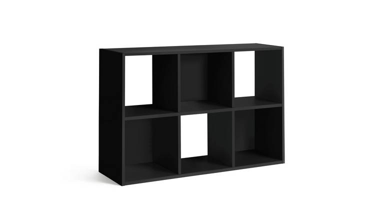 Habitat Squares 6 Cube Storage Unit - Black