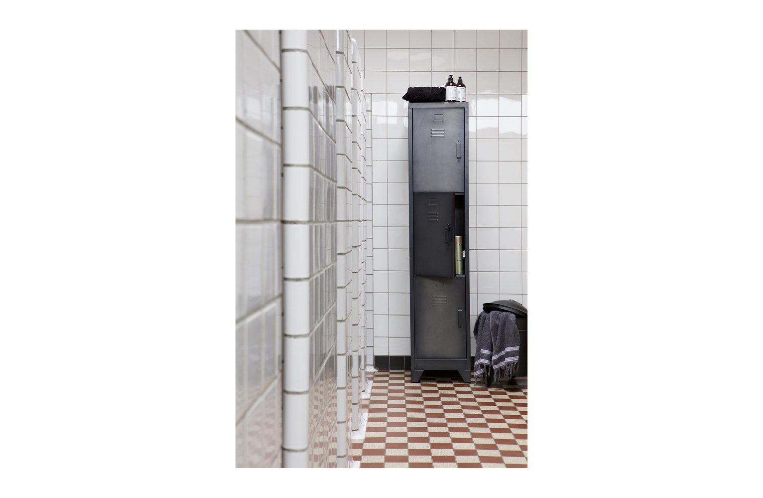 Woood Cas Black 3 Door Locker Cabinet