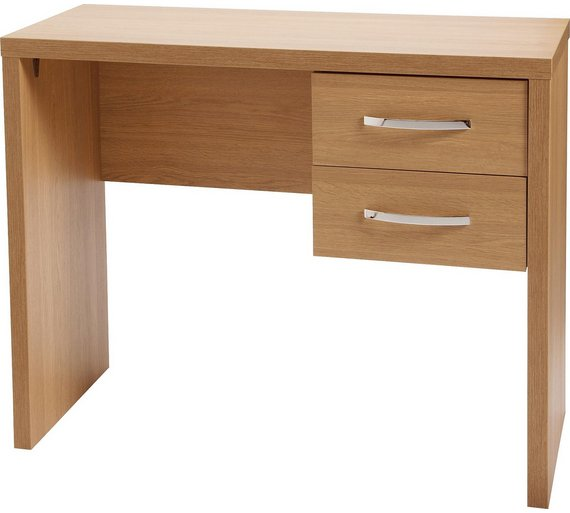 Buy Jarvia 2 Drawer Office Desk Oak Effect At Your Online Shop For Desks And