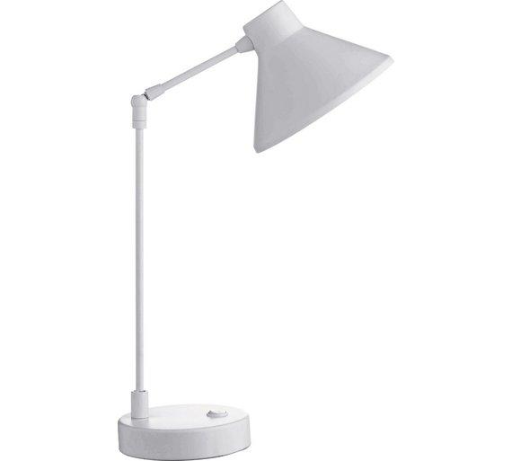 Habitat bobby desk lamp white