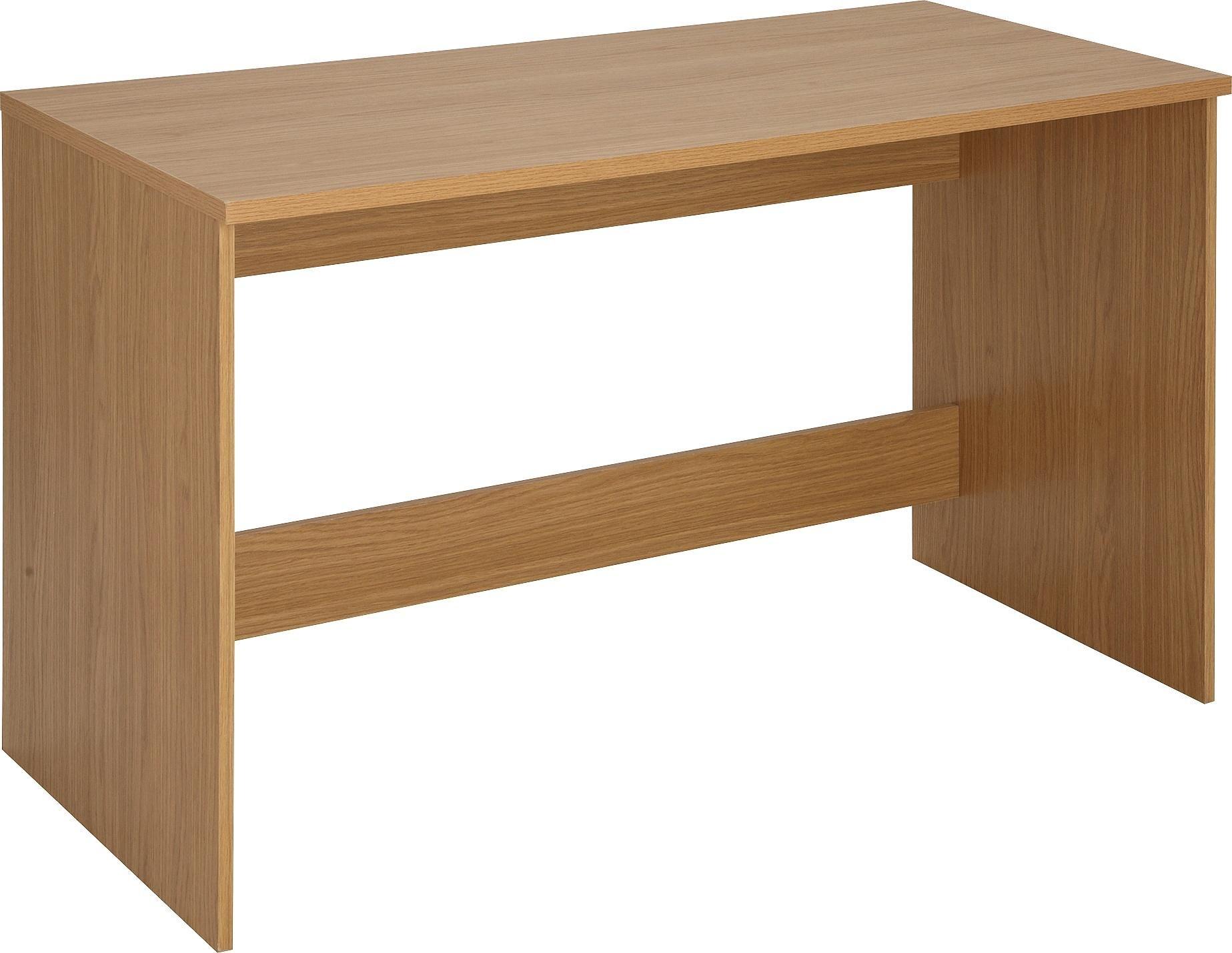 Home walton office desk oak effect
