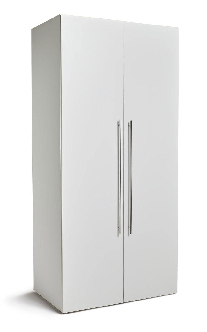 Hygena Atlas 2 Door Tall Wardrobe - White