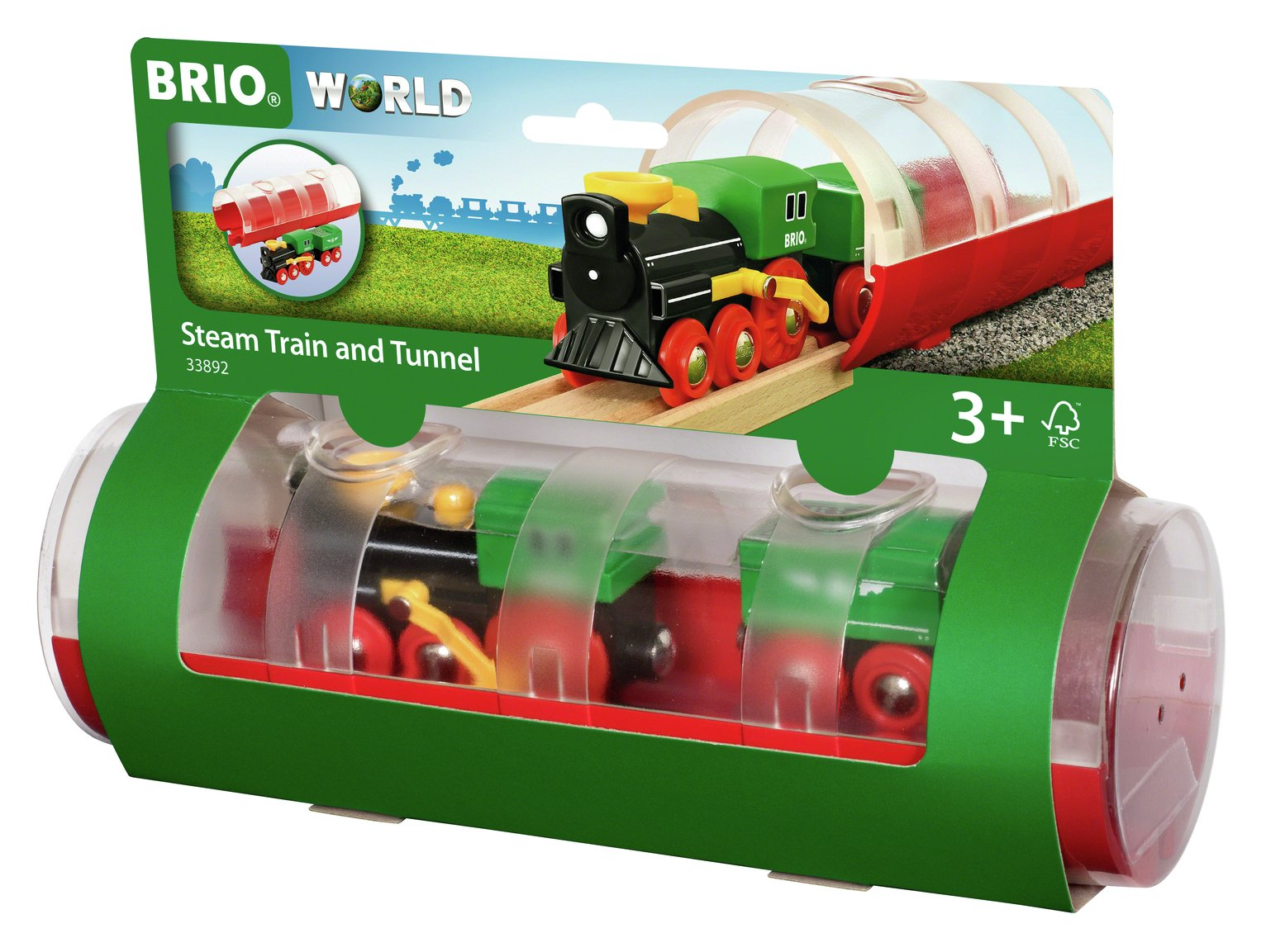 BRIO Tunnel and Steam Train Playset