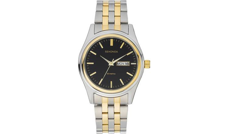 Sekonda Men's Two-Tone Stainless Steel Bracelet Watch
