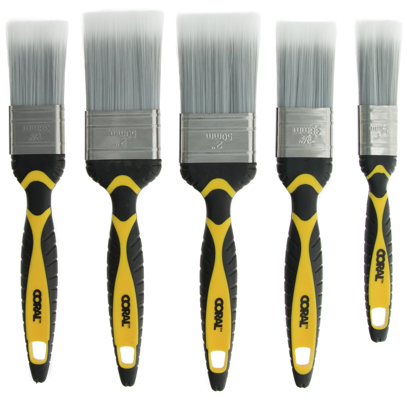 Coral Shurglide Paint Brush - Set of 5
