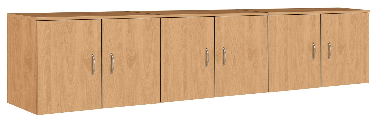 Argos Home Cheval Overbed Cupboards - Beech Effect