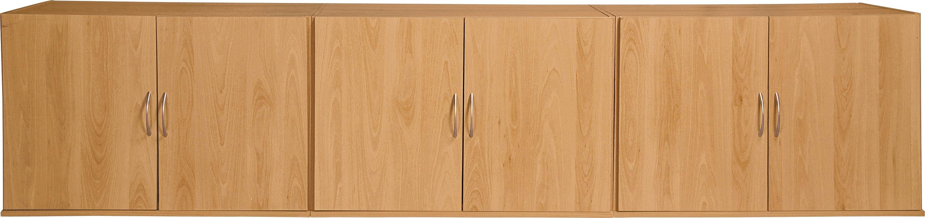 Image of Collection Cheval Overbed Cupboards - Beech Effect