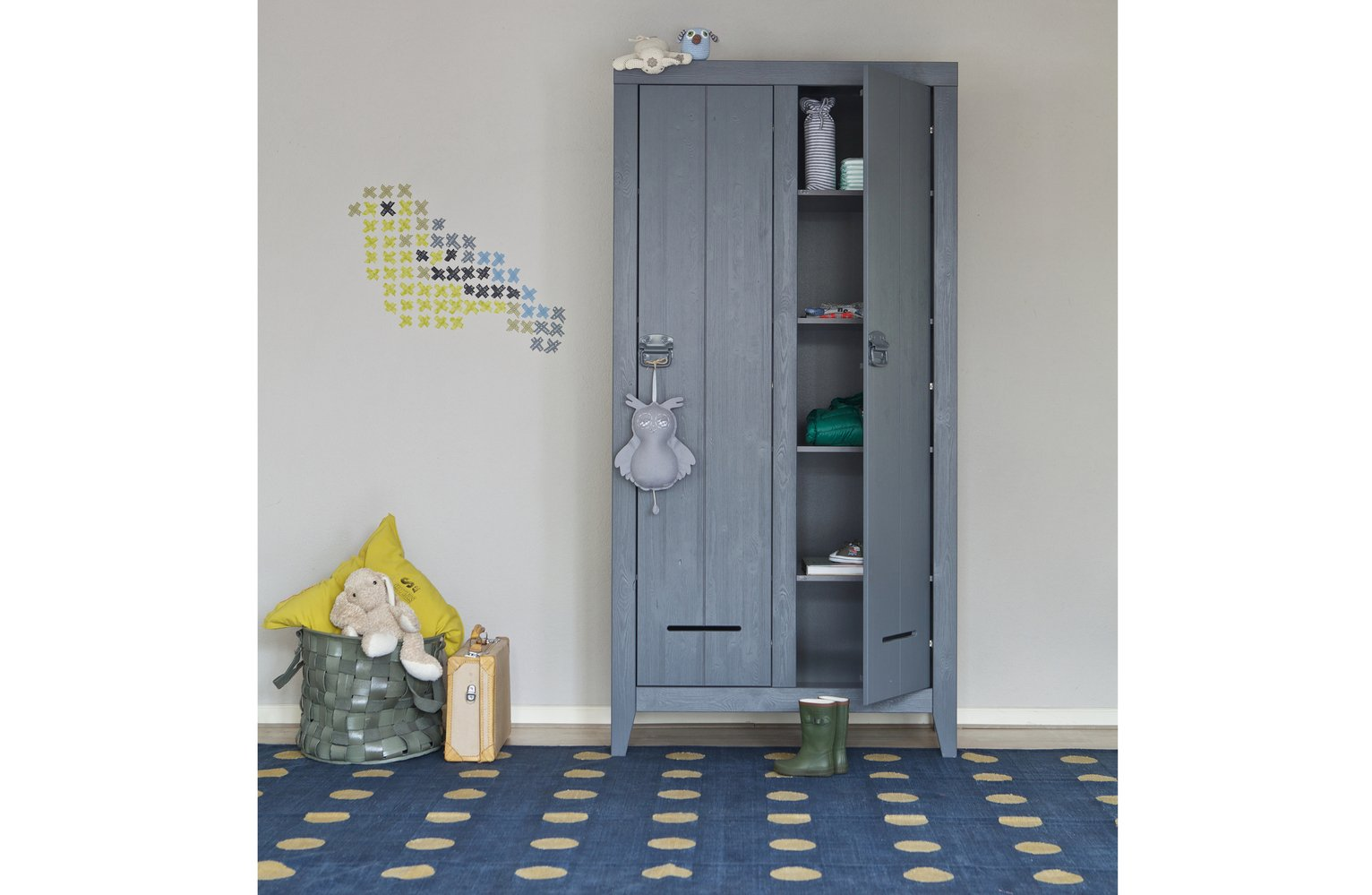 Woood Kluis Concrete Grey Cabinet