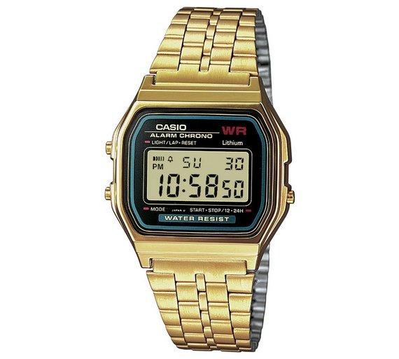 Buy Casio Gold Stainless Steel Bracelet LCD Watch  99890391d8f3
