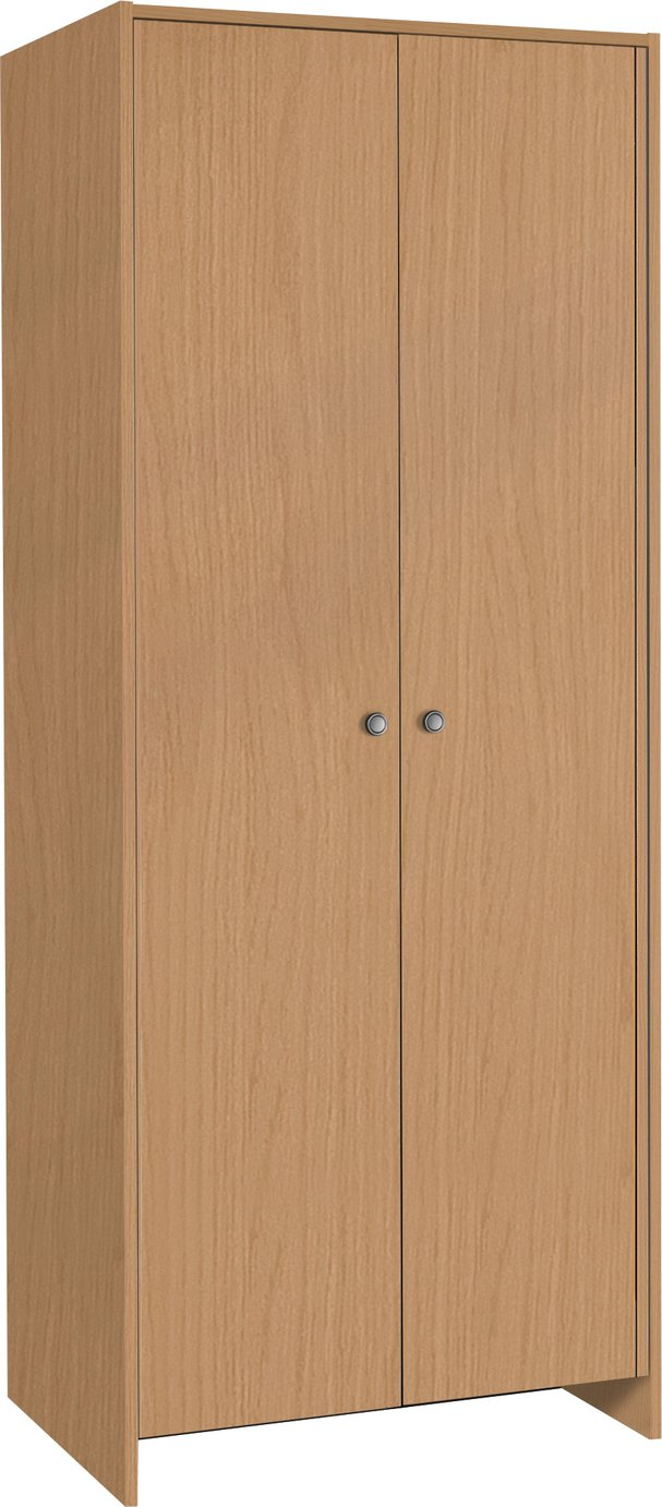 Argos Home Seville 2 Door Wardrobe - Beech Effect