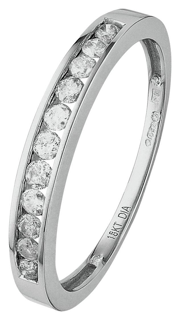 18 Carat White Gold 025 Carat tw Diamond - Eternity Ring