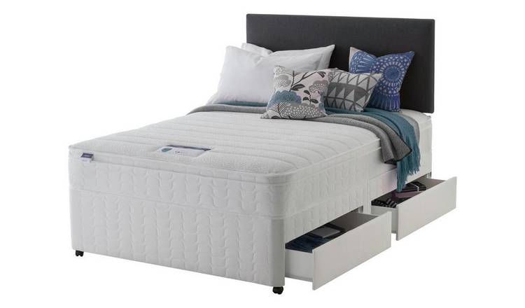 Silentnight Travis Miracoil Cushiontop 4Drw Divan- Superking