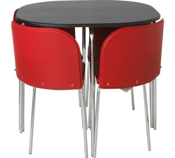 Buy Hygena Amparo Black Dining Table 4 Chairs