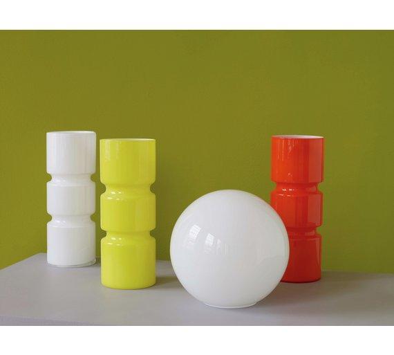 Habitat fitz glass table lamp orange