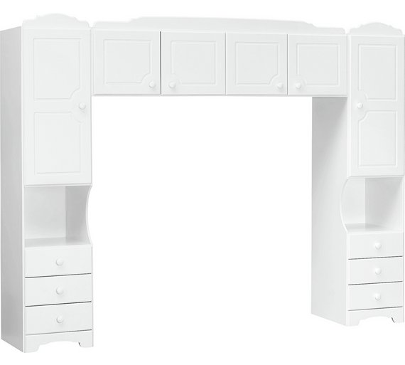 Buy home nordic overbed fitment white at for Bedroom units argos