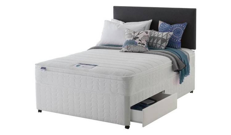 Silentnight Travis Miracoil Cushiontop 2Drw Divan- Superking