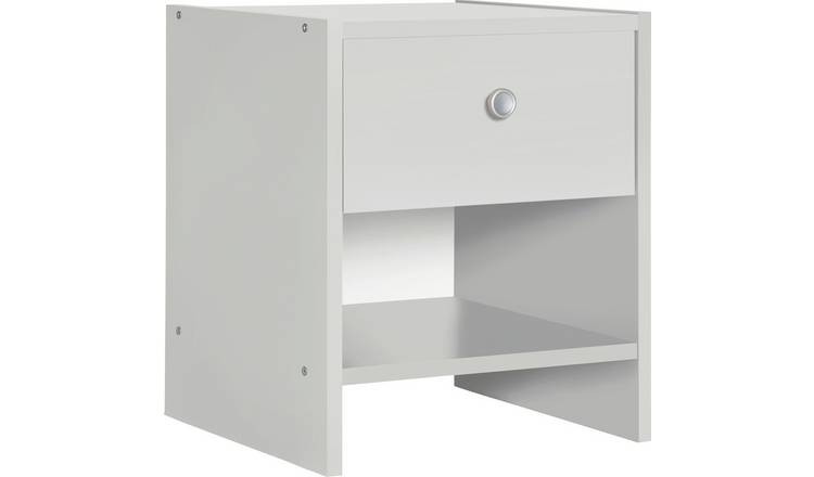 Argos Home Seville 1 Drawer Bedside Table - White