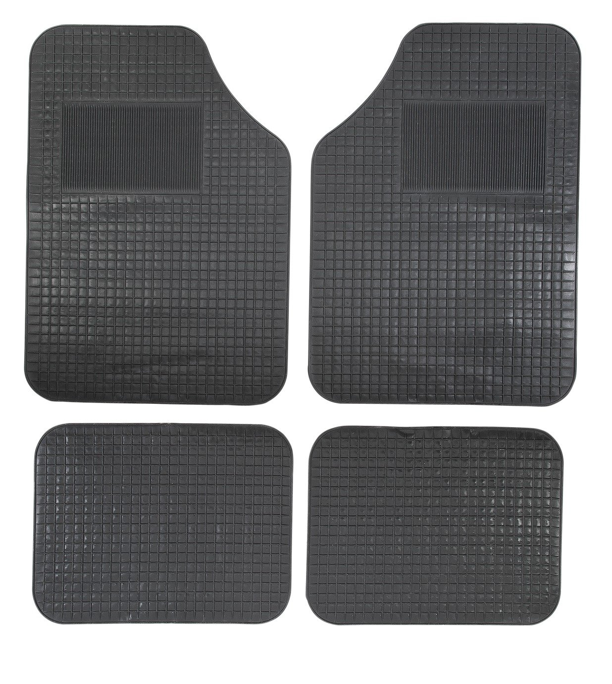 Image of Simple Value - Set of 4 Rubber Car Mats - Black