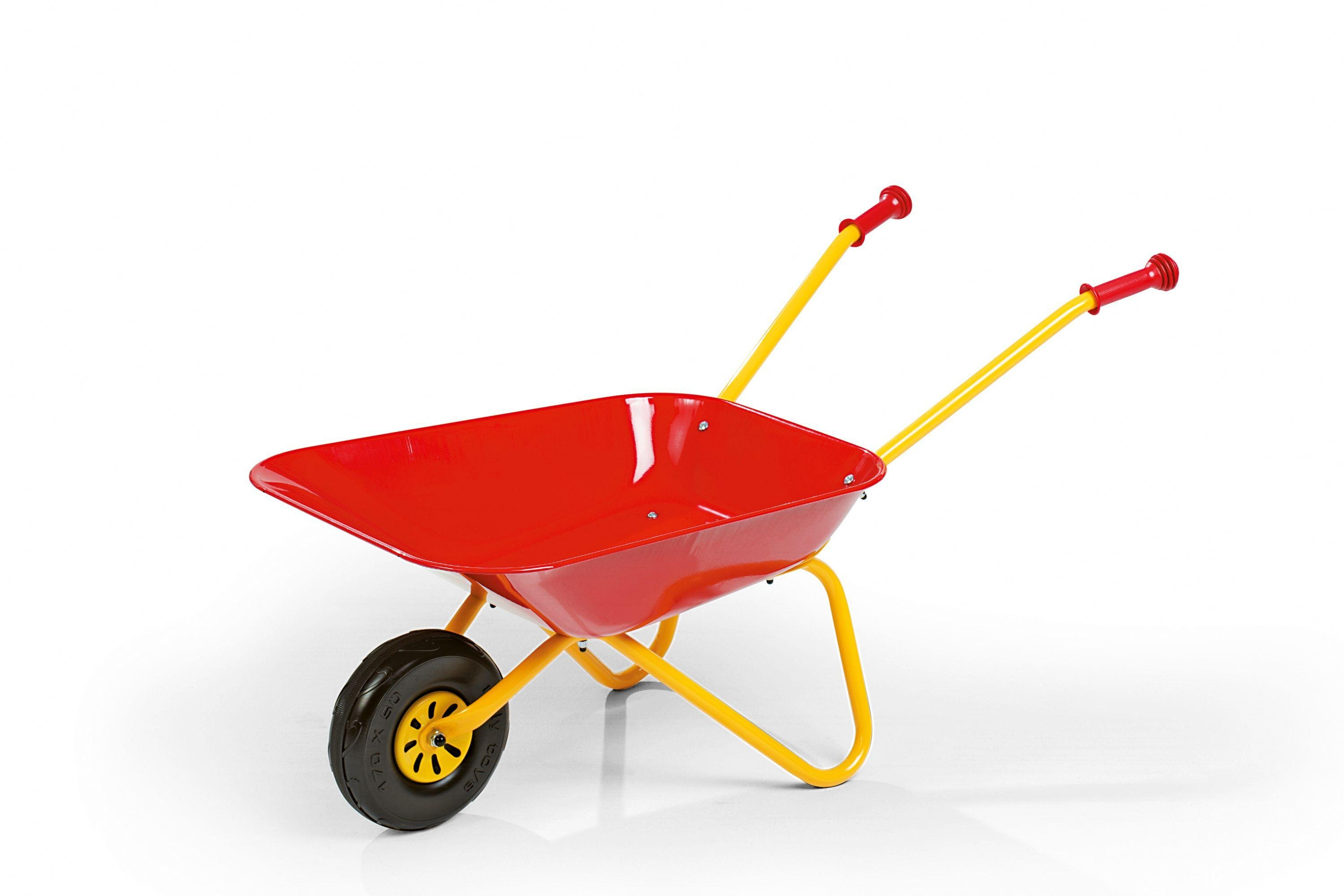 child-metal-wheelbarrow-red