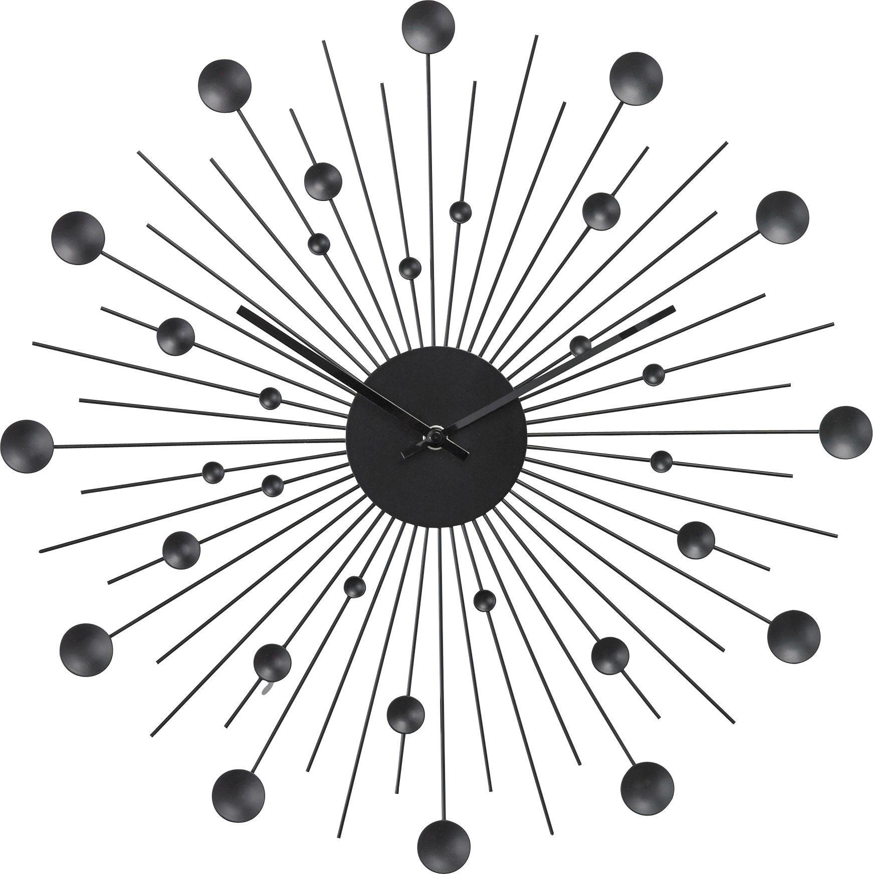 Black Wall Clocks buy home satellite black wall clock at argos.co.uk - your online