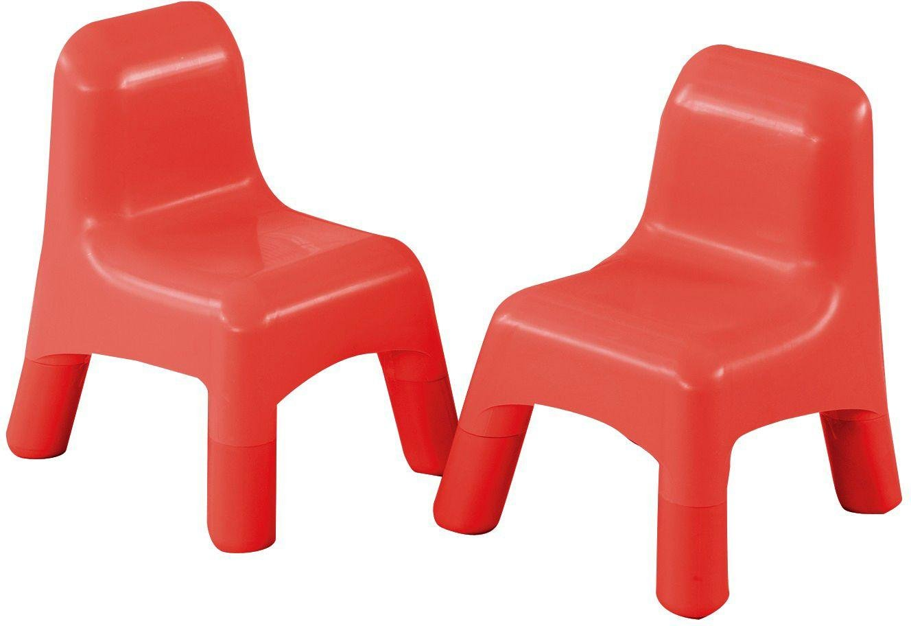 Image of Early Learning Centre - Set of 2 Plastic Chairs - Red