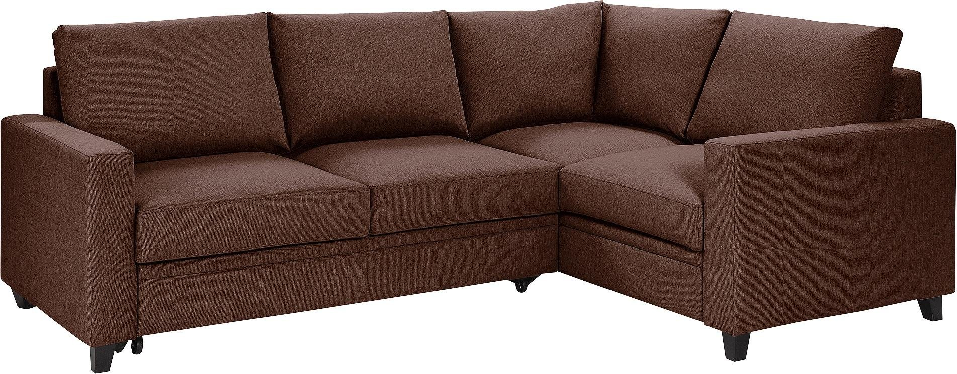 Argos Home Seattle Right Corner Fabric Sofa Bed - Brown