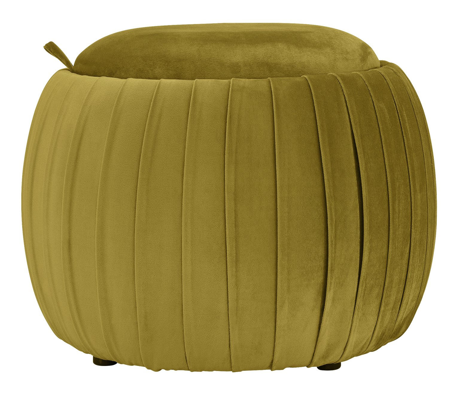 Argos Home Ellie Velvet Storage Footstool - Gold