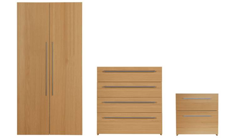 Argos Home Atlas 3 Piece 2 Door Wardrobe Set - Oak Effect