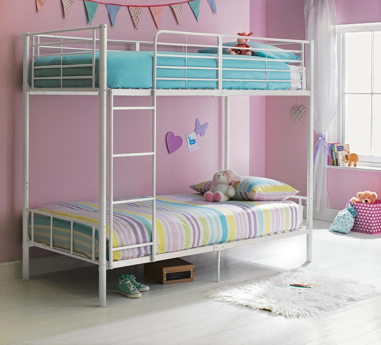 maddison-single-bunk-bed-frame-white