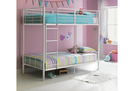 HOME Maddison Single Bunk Bed Frame - White