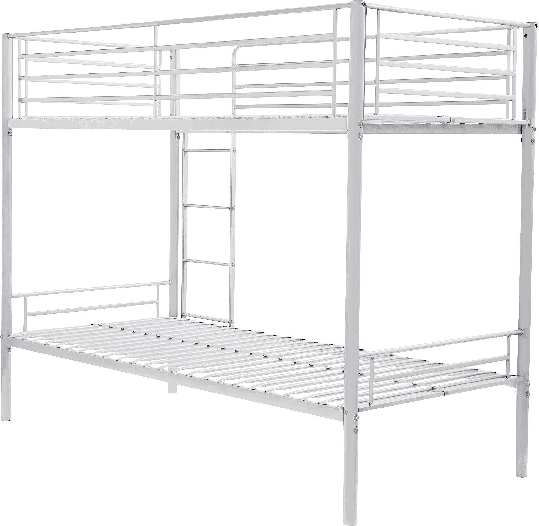 Buy HOME Maddison Single Bunk Bed Frame White at Argoscouk