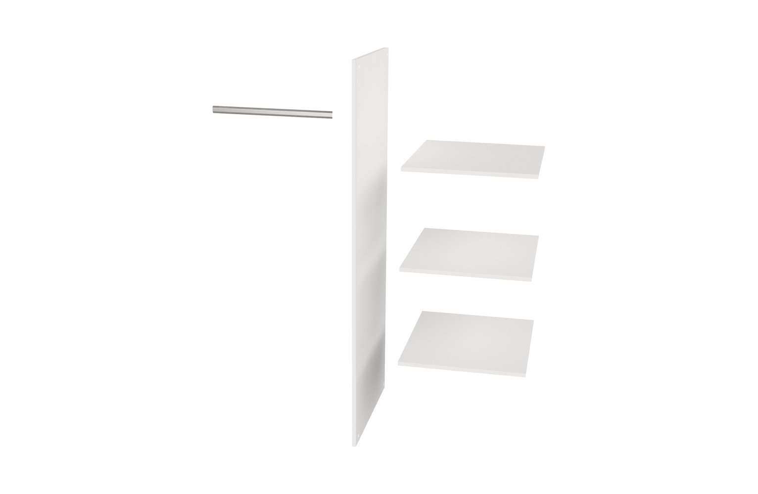 Woood Connect White Interior Shelving Upgrade Pack