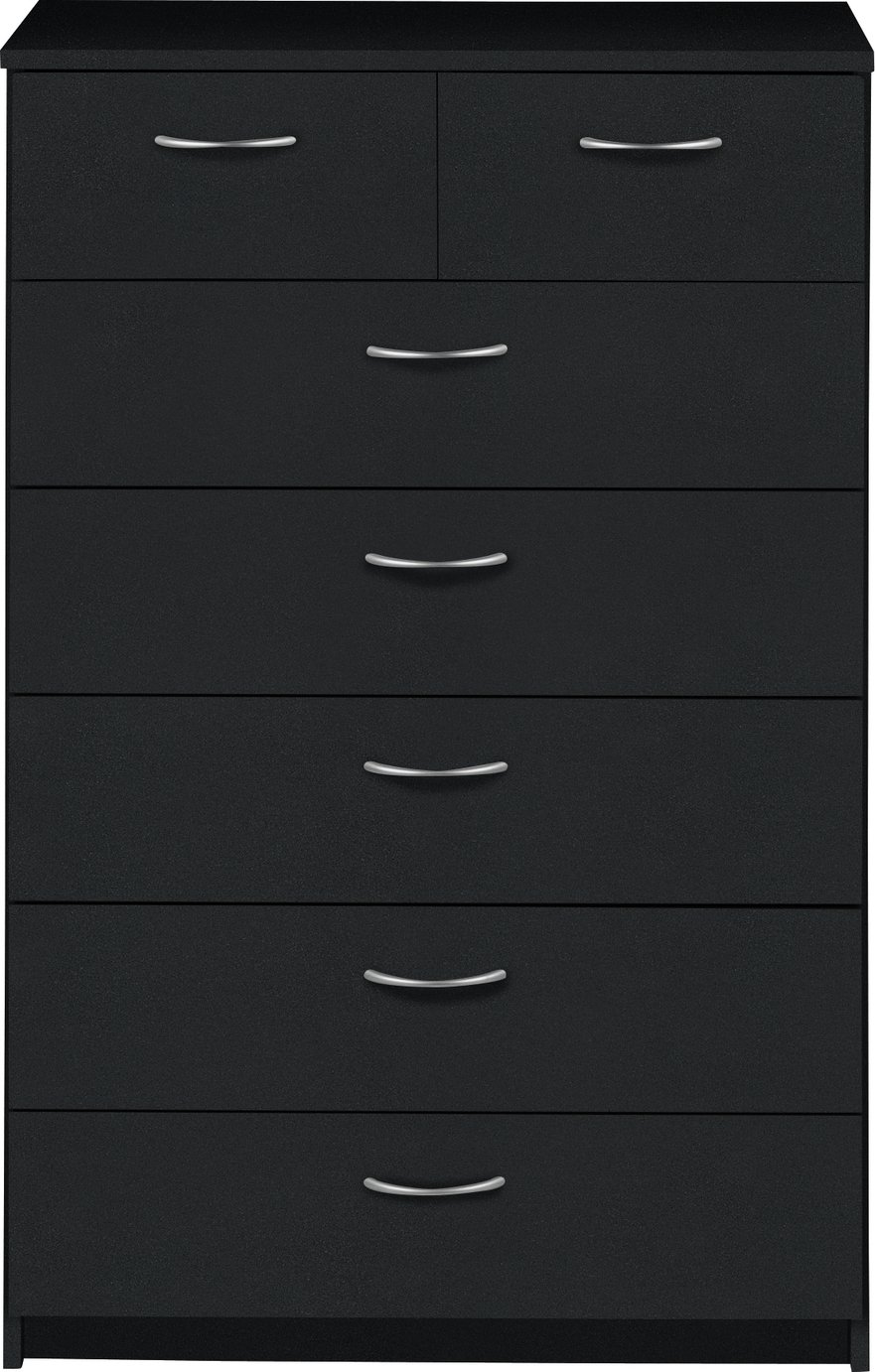 Argos Home Cheval 5+2 Drawer Chest - Black