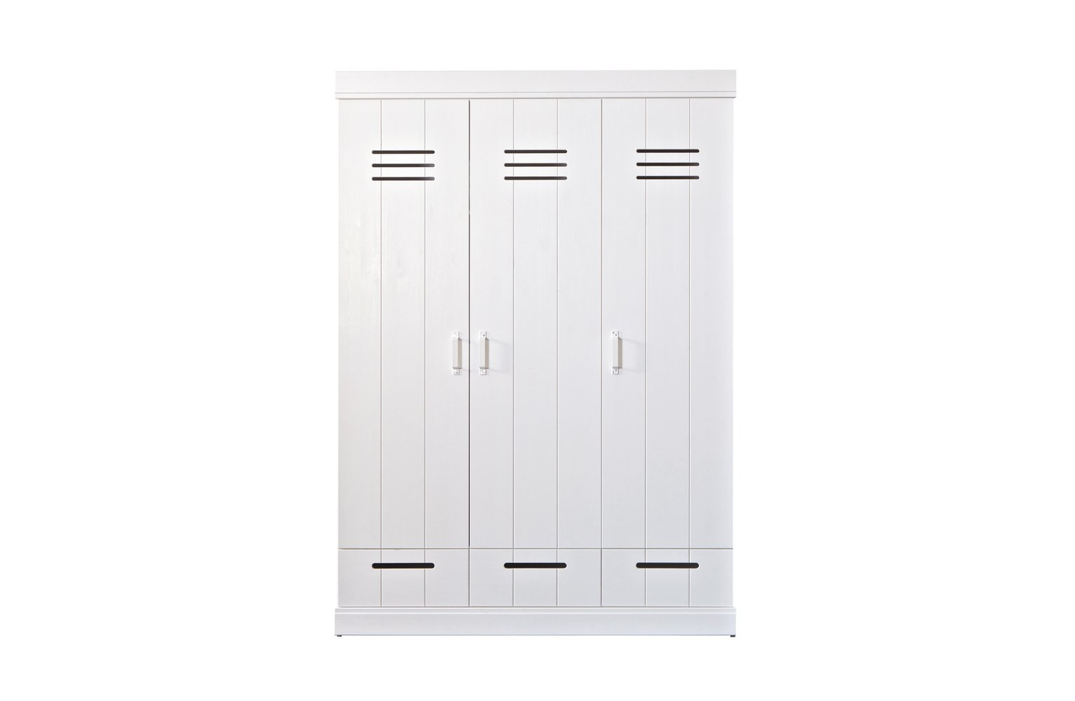 Woood Connect White 3 Door 3 Drawer Wardrobe