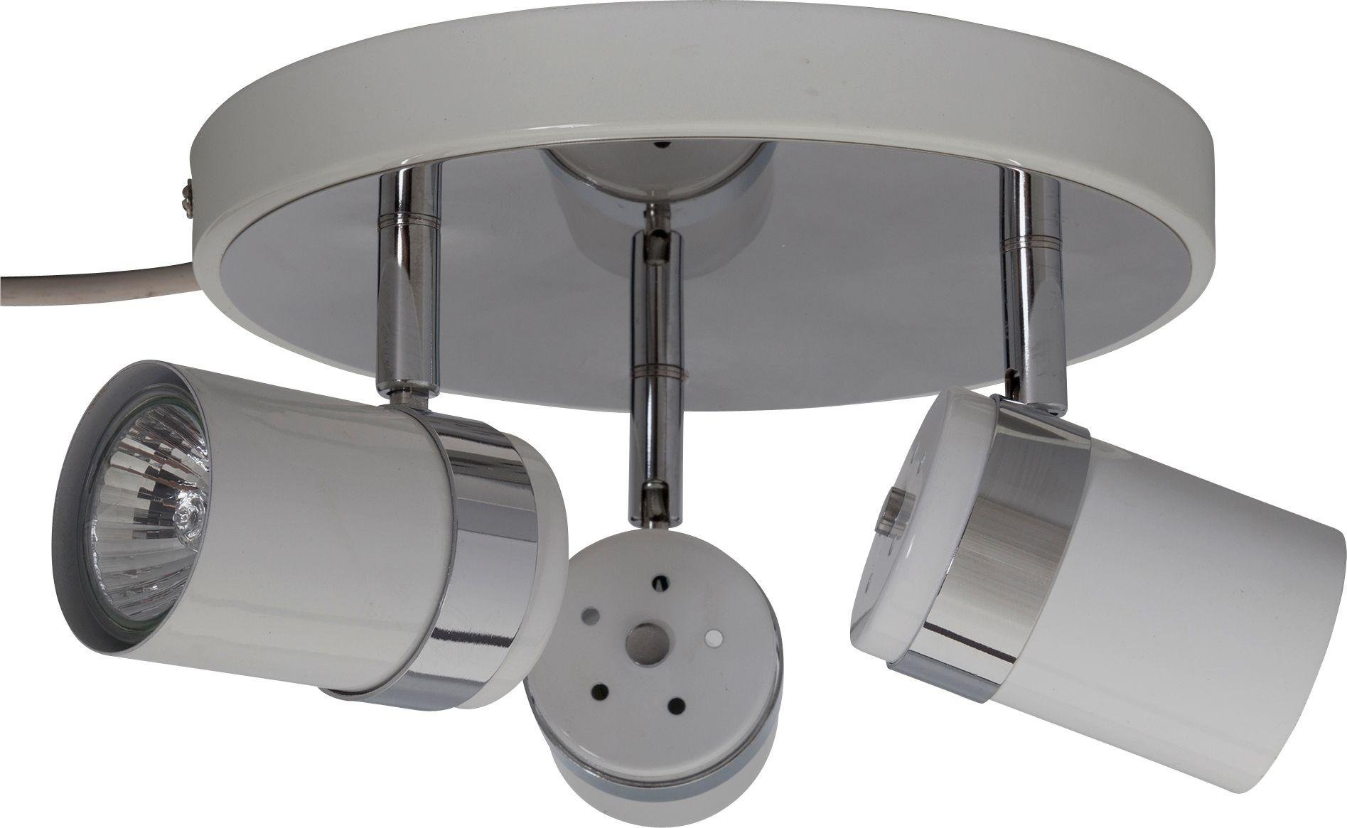 Argos Home Shiro 3 Spotlight Plate - White & Chrome