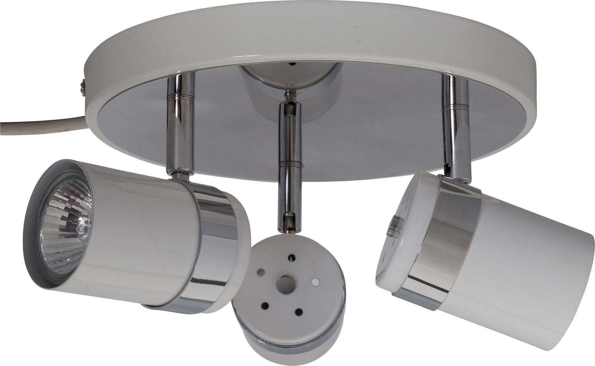 Argos Home Shiro 3 Spotlight Plate - White & Chrome