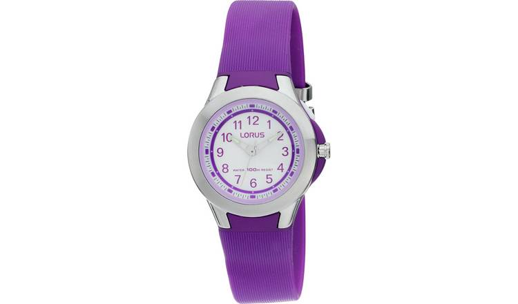 Lorus Purple Resin Strap Watch